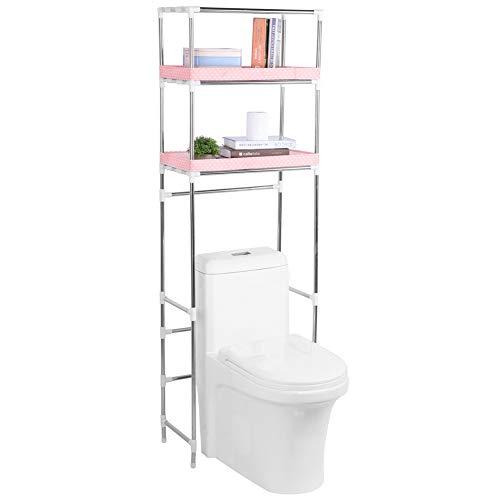Zerone Estantería sobre Inodoro WC, 3 Niveles Estantería de Almacenamiento para Baño sobre Inodoro, 53 x 28 x 166 cm