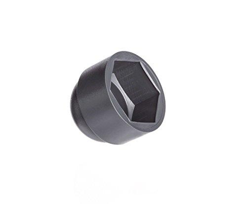 Schutzkappen für Schrauben M12 (für Schlüssel 19) Anthrazitgrau | 50 Stück | Abdeckkappen Blindstopfen Endkappen