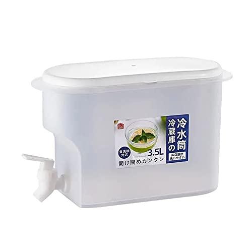 YSJJZDE Hervidor frío 1.13 galones refrigerador Bebida Dispense hogar refrigerador frío hervidor de frío con Grifo Gran Capacidad limón Fruta Tetera Tetera Verano (Color : A)