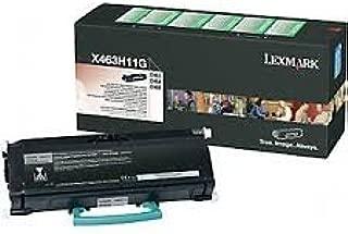 Genuine OEM brand name Lexmark X463/464/466 Hi-Yield Rtn Prgm Blk Toner (9K Yield) X463H11G