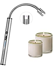 COOK IT WELL Candle Lighter, USB Rechargeable Electric Lighter, Flameless WindProof Arc Lighter, 3.7 inch Flexible Rotating Neck for Kitchen Cooking Gas Stove Camping BBQ Birthday Fireworks