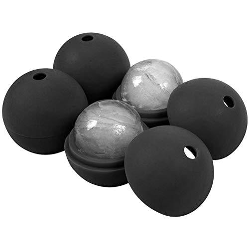 4 stuks grote schimmel iceball hoog, 2,5 inch breed ijsklontjesmachine door sferische siliconen houden koude en sterke whisky,een afmeting