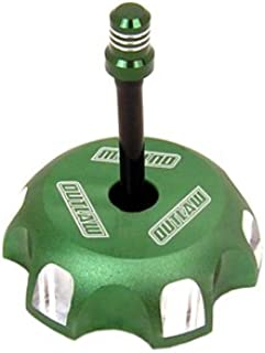 Outlaw Racing Billet Gas Cap with Vent Hose-Green