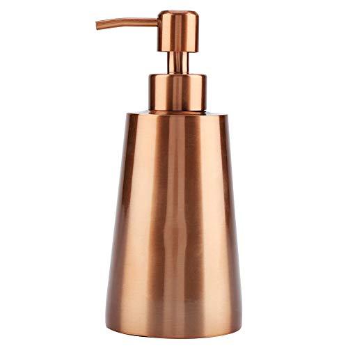 Bomba Dispensadora de Loción de Champú con Jabón Líquido de Acero Inoxidable de 350 Ml Dispensador de Jabón Recargable Cuadrado para Encimera de Cocina o Baño (Oro Rosa)