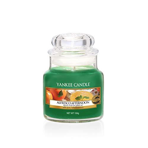 Yankee Candle Alfresco Afternoon kaars in glas, groen, small