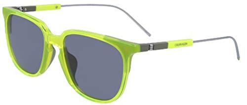 Calvin Klein CK19700S Acetate - Gafas de sol de cristal neón amarillo/gris, unisex para adulto, multicolor, estándar