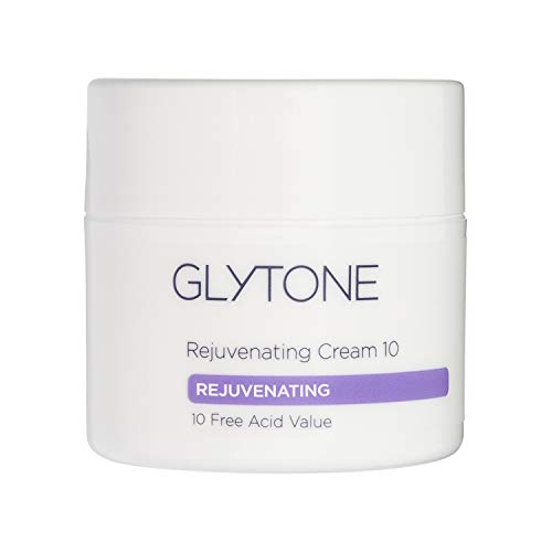 Glytone Rejuvenating Cream with 10 Free Acid Value Glycolic Acid, Moisturizer, Rich Creamy Emollient, Exfoliate, Normal to Dry Skin, 1.7 oz