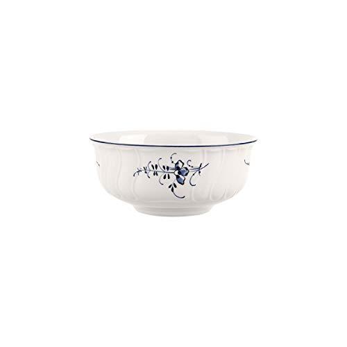 Villeroy & Boch 1023413880 Vieux Luxembourg - Bol à Dessert, Porcelaine Premium, Blanc/Bleu