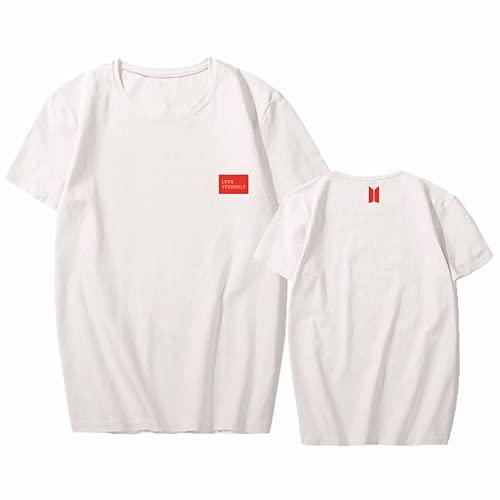 Camiseta de algodón Kpop Concert LOVE YOURSELF, usada para soporte JUNGKOOK SUGA JIN...