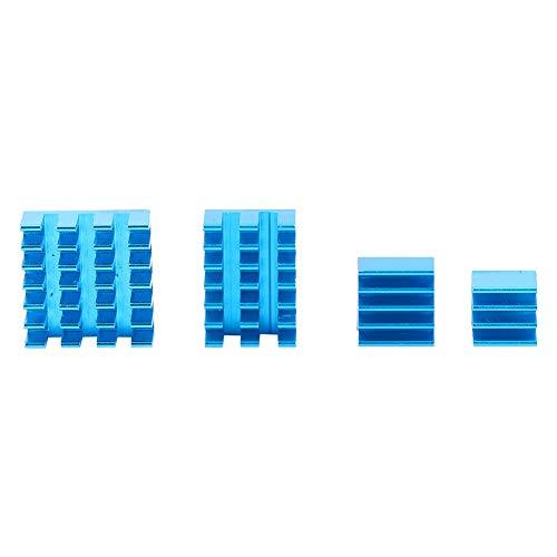 Disipador de calor, estable, práctico, azul, de buena conductividad, disipador de calor para Raspberry Pi para fuente de alimentación para transistor para placa base CPU para módulo MOS