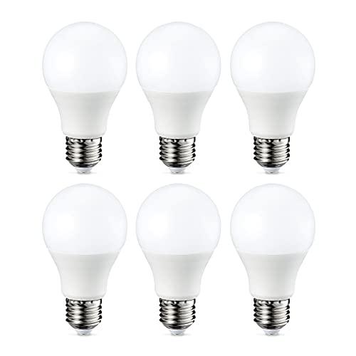 Amazon Basics E27 LED Lampe, 9W (ersetzt 60W), warmweiß, dimmbar - 6er-Pack