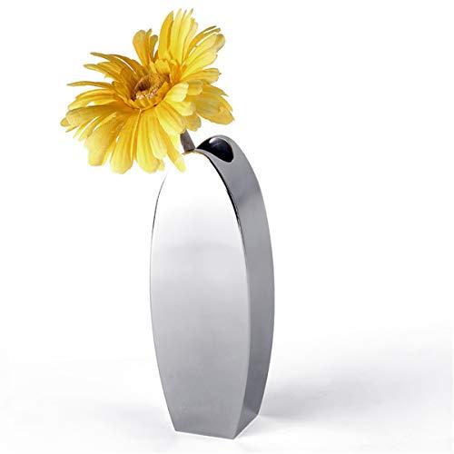 TuToy roestvrij staal ovale bloem vaas Office Decor keuken thuis tafel ornament cadeau