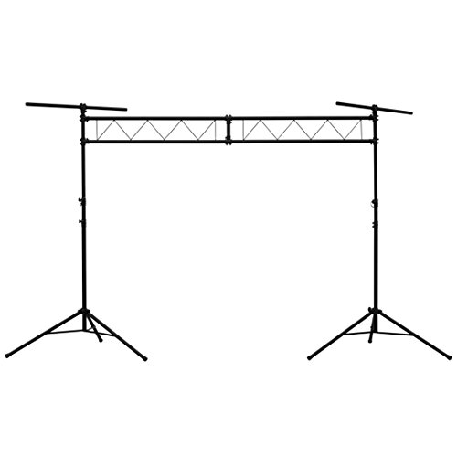 Talent LST1 10 ft. Wide DJ Portable Truss Lighting Stand Stage Trussing System with Light T-Bars