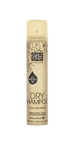 Girlz Only Haircare Trockenshampoo mit Argan-Öl für blondes Haar, 200 ml