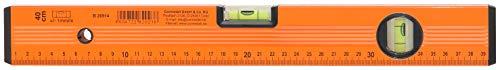 CON:P B26914 Wasserwaage, Leichtmetall, 2 Libellen, Stoßkappen, 40 cm