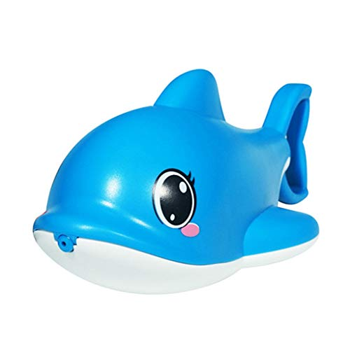 Wasserpistole Spielzeug Cartoon Shark, Water Gun Spielzeug für Kinder, Wasserpistolen für Sommerpartys Party Water Blaster Strand Sommer Pool Badespielzeug Strandspielzeug ab 3 Jahr (Blau)