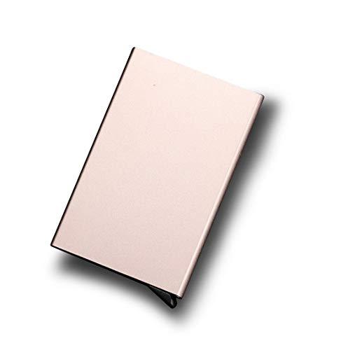 bester Test von fluege de mastercard gold RFID-blockierender Kreditkartenhalter, Aluminium, schlank, bietet Platz für bis zu 7 Karten…