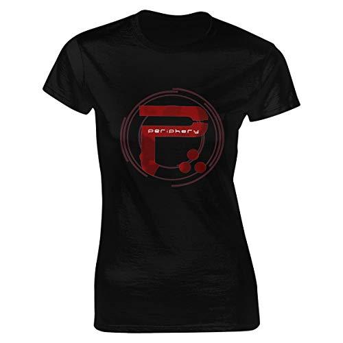 Damen Periphery 2 Logo Bekleidung T-Shirt Kurzarm Black L Tee T Shirt Rundhalsausschnitt Sommer Tshirt Für Frauen