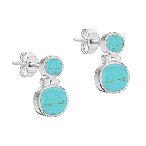 Boucles d'oreille - 8.57.8999 - Pendientes de mujer de plata con turquesas sintéticas