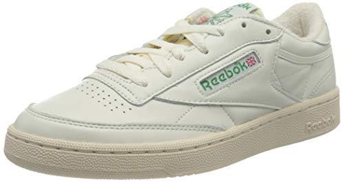 Reebok Herren Club C 1985 TV Sneaker, Chalk/Paperwhite/Glen Green, 44 EU
