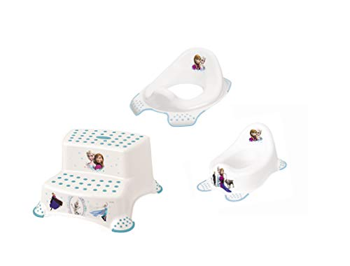 3 Z Set Disney Frozen Vasino Wc + Sgabello Due Livelli Nuovo