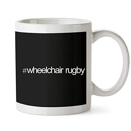 Hashtag Rollstuhl Rugby Bold Text Becher 11 Unzen