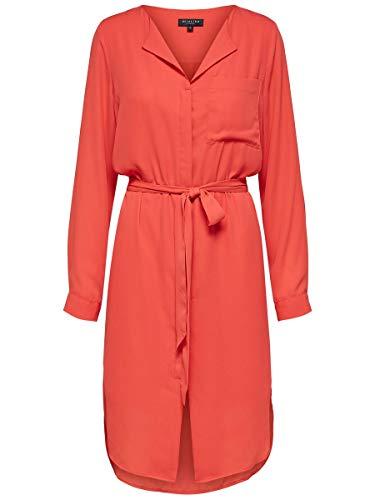 SELECTED FEMME Slfdynella LS Dress B Vestido, Rojo (Poppy Red), 42 (Talla...