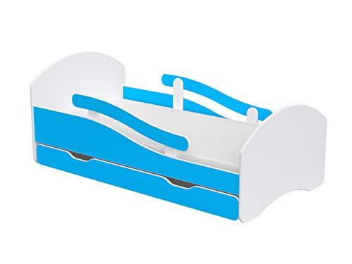 Oscar de lit simple pour enfants et jeunes enfants avec tiroirs et matelas en mousse en latex de noix de coco inclus.