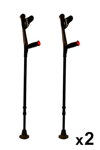 KMINA - Krücken Schwarz, Gehhilfe krücken, Gehhilfen krücken, Krucken, Gehilfen krücken KMINA COMFORT Doppelset