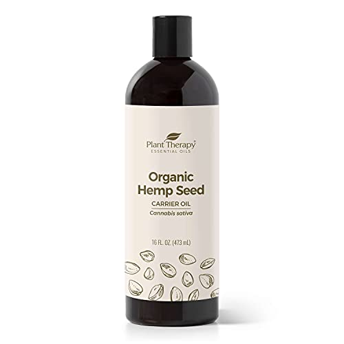 Plant Therapy Hemp Seed Carrier Oil 16 oz Base Oil for Aromatherapy, Essential Oil or Massage use