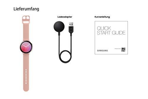 Samsung Galaxy Watch Active2, Fitnesstracker aus Aluminium, großes Display, ausdauernder Akku, wassergeschützt, 44 mm, Bluetooth, Gold