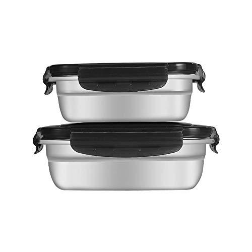 Jcloris 304 Edelstahl Aufbewahrungsbox Lunchbox Haushaltsdichtung Abdeckung Koreanische Kimchi Box Rechteckige Küche Kühlschrank Aufbewahrungsbox-5500Ml