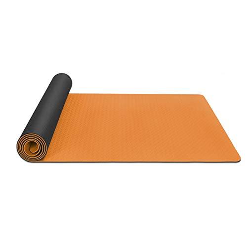 Hzjjc Esterilla Yoga Deporte Antideslizante Gruesa, Colchoneta Mat Yoga Abdominales Grande Esterilla Fitness Ecologica Viaje para Pilates Gimnasio Meditación, 183x61cm, 6mm, Rosa