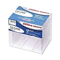 (まとめ) CD/DVDケース 厚さ10mm 10枚入 【×5セット】 ds-1642243