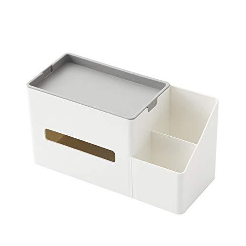 HDSFD Caja de pañuelos multifuncional para el hogar, sala de estar, mando a distancia, caja de almacenamiento creativa