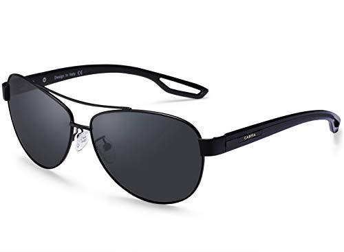 Carfia Occhiali da sole da Uomo Donna Pilot Polarizzati UV400 Protezione Occhiali da Outdoors