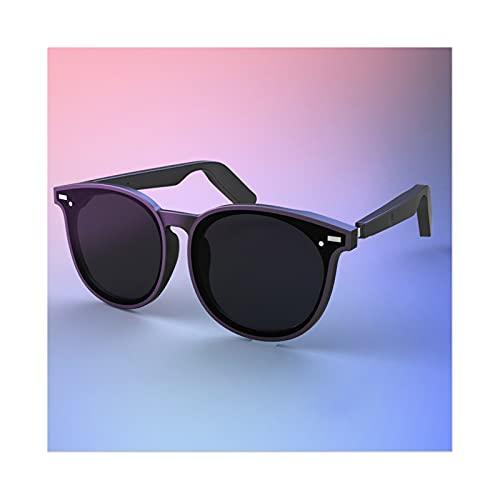 QSMGRBGZ Conducción Huesos Bluetooth Gafas,Gafas De Sol De Luz Anti-Azul Inalámbrica Deportivas Al Aire Libre, Estéreo para Música/Llamadas (Carga Magnética)