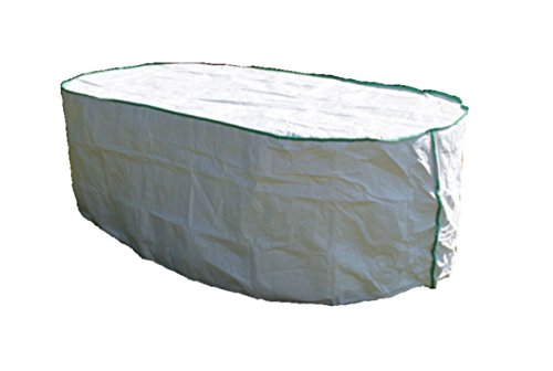 housse de protection pour table de jardin ovale excl. de Tyvek - avec sac de stockage - dimensions: 200cm x 110cm x 15cm