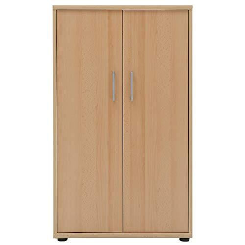 Möbelpartner Aktenschrank DELTA | HxBxT 1110 x 650 x 340 mm| Buche | Aktenregal Schrank Regal Büroschrank Schiebetürenschrank