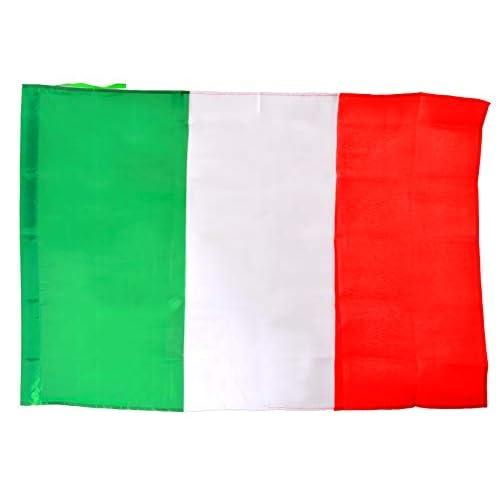 Ciao- Bandiera Italia in Tessuto, Verde/Bianco/Rosso, 100 x 70 cm, 22121