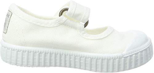 victoria Unisex Baby 1915 Mercedes Velcro Lona Tintada Sneaker, Weiß (Blanco 20), 23 EU