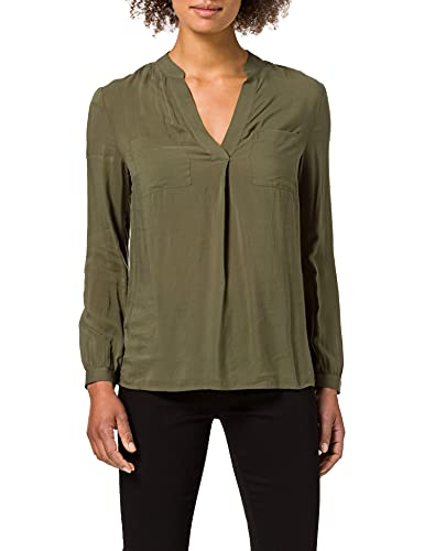 United Colors of Benetton Blusa 563U5QCP3 Camisa, Verde Militar 35a, L para Mujer