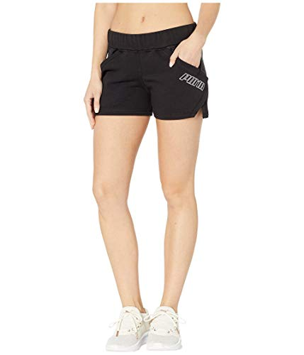 PUMA Women's Yogini 3' Shorts Shorts, Cotton Black, L