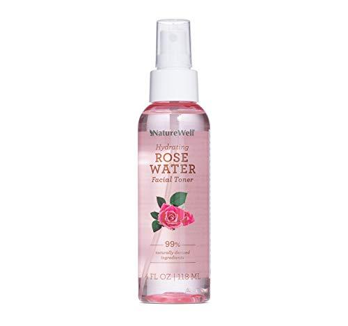 NATUREWELL Hydrating Rose Water Facial Toner Spray, 4 Fl Oz