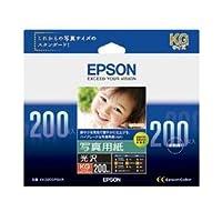 (まとめ)エプソン 写真用紙[光沢]KGサイズ KKG200PSKR 1箱(200枚) 【×3セット】