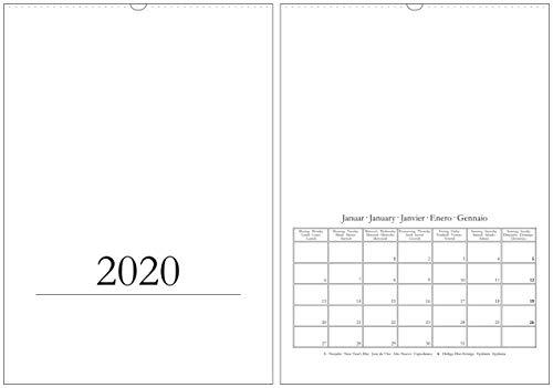 Bastelkalender & Fotokalender 2020 in DIN A3 / A2 - Wandkalender - Hochformat/hoch - Kreativkalender DIY Do-it-yourself - XL/XXL - weiß - mehrsprachig (A3)
