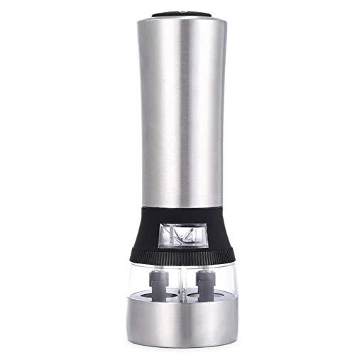 Zout en Pepermolen Stainless Steel 2 in 1 Muller Elektrische Pepermolen Zout en Pepermolen Ceramic Grinder met Licht en verstelbare Grofheid