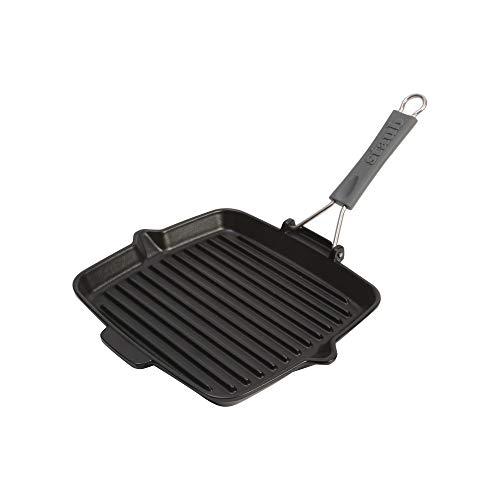 STAUB Grill, Hierro Fundido, Negro, 24 cm