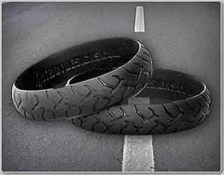 Road Rash Biker Wristband Black Harley Davidson