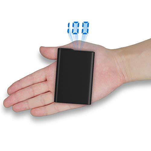 Power Banks 12000mAh Tragbares Ladegerät Mini Externer Akku Pack mit LCD-Digitalanzeige, 2 USB-Anschlüsse, Handy-Ladegerät für iPhone X 8 7 6S 6 Plus, iPad, Smartphone, Huawei, Samsung Galaxy und mehr